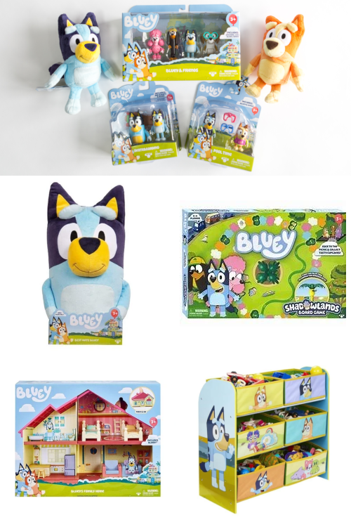 Bluey toys, games, playsets and more